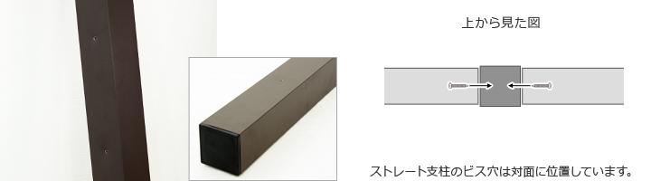 ストレート支柱の場合の設置方法