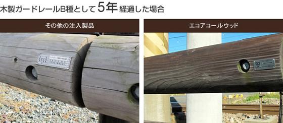 木製ガードレールB種として5年経過した場合