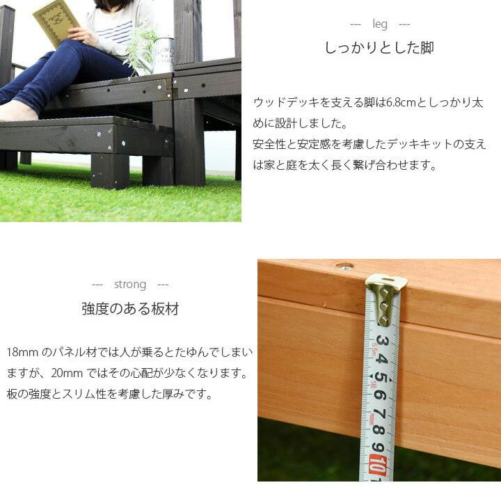 しっかりとした脚 強度のある板材