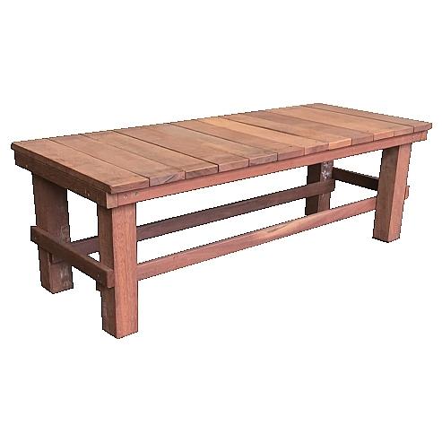 ウリン製ガーデンベンチ