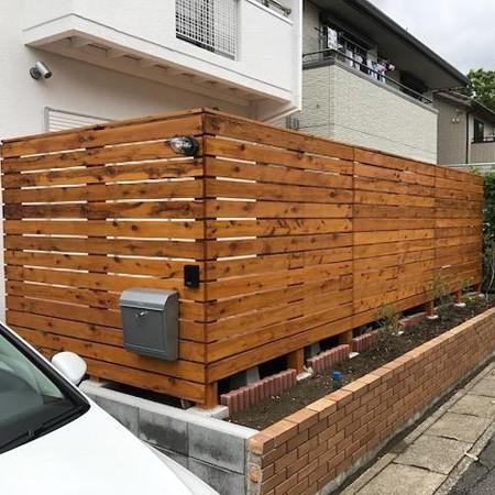ハードウッド フェンス DIY施工例