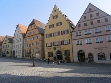 ドイツローテンブルクの色漆喰
