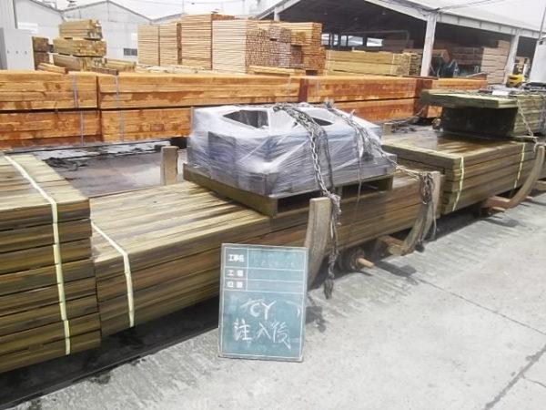 加圧式保存処理木材の保存処理