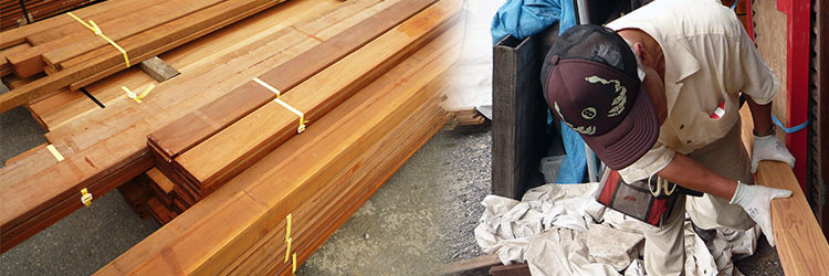 セランガンバツ・ウェスタンレッドシダー材(米杉材)の特注製材サービス