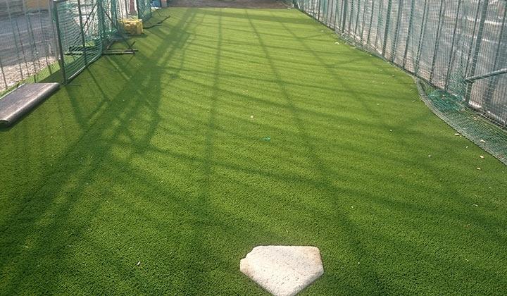 山梨県 塩山高校 野球部室内野球練習場
