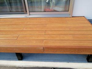 ハイブリッド彩木デッキ材の施工例