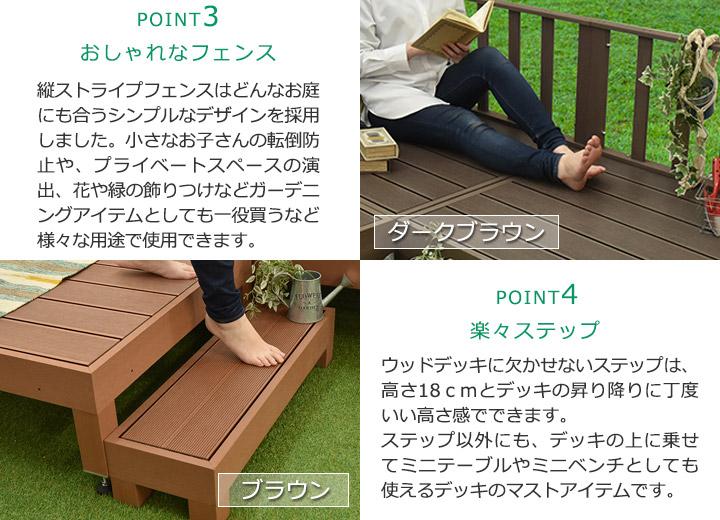 DIY人工木デッキ カルパティアⅡ おすすめポイント3-4 メンテナンスが楽