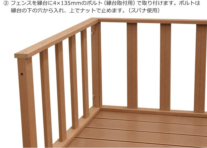 DIY人工木デッキ カルパティアⅢフェンス2